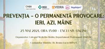 """""""PREVENȚIA – O PERMANENTĂ PROVOCARE: IERI, AZI, MÂINE"""""""